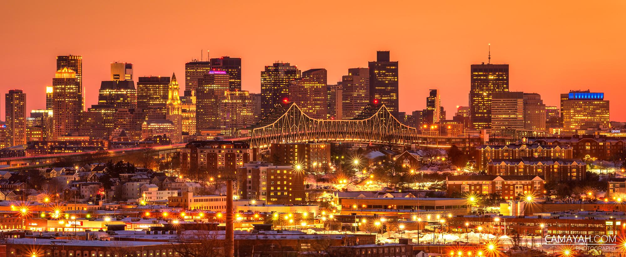 Boston Skyline View From Whidden Hospital