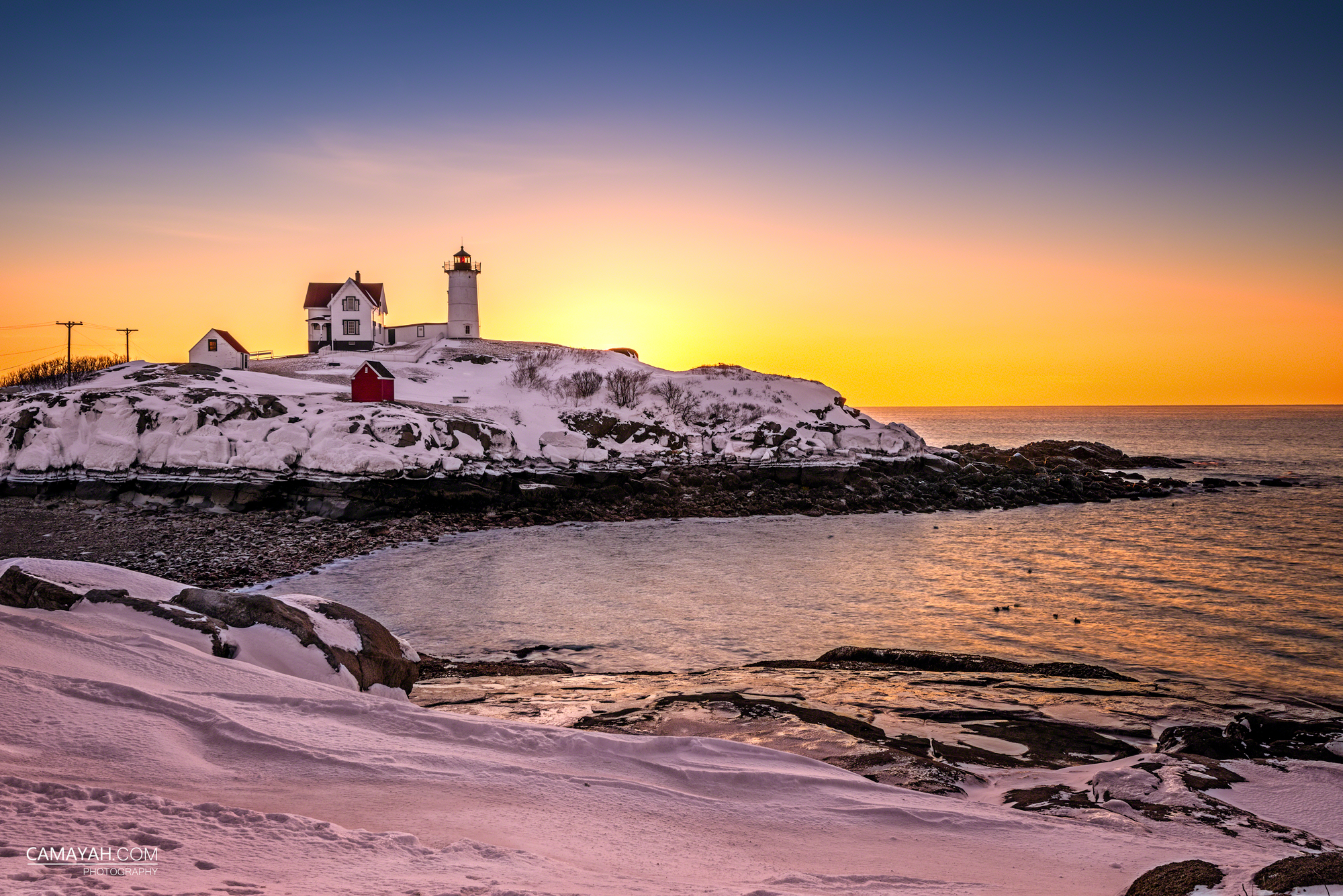 Nubble Lighthouse | Camayah Photography